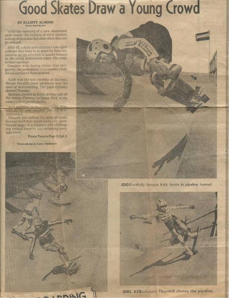 Kristi Newsome found some great Skatopia Newspaper Clips
