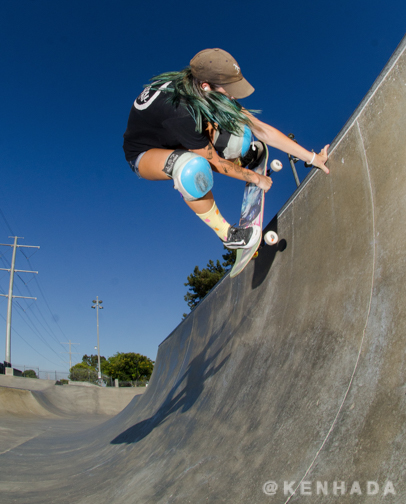 Kristy Scott handplant Chino Skateboard Park