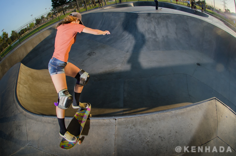 Kristy Scott Rock n Roll Chino Skateboard Park