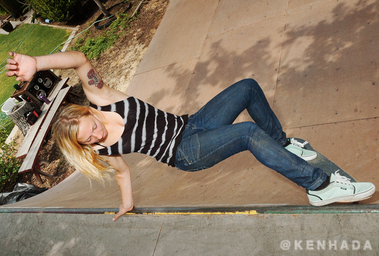 julie lynn kindstrand,  layback vans mini skateboard ramp