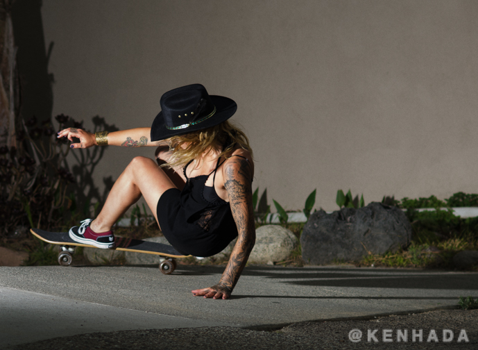 Julz Lynn, old school alley skateboarding