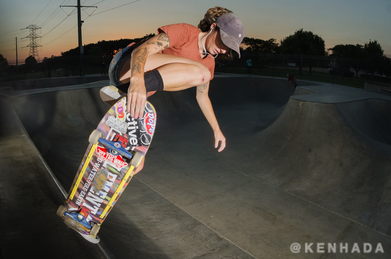 Kristy JimJam sunset Chino Skateboardpark