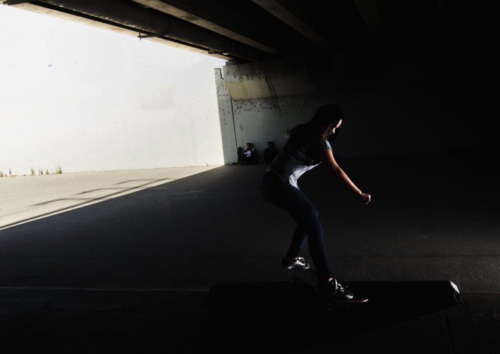 Mikayla Sheppard Skateboard Ditch