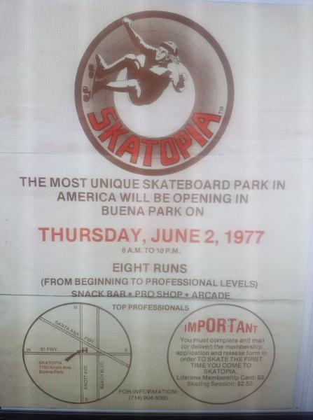 Skatopia Opening Day Flyer