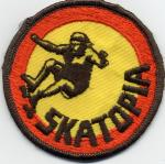 Skatopia vintage skateboard pictures patch